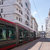 The Casablanca tramway is the rapid transit tram system in Casablanca in Morocco and it passes through the pedestrian area of Avenue Hassan II in downtown.