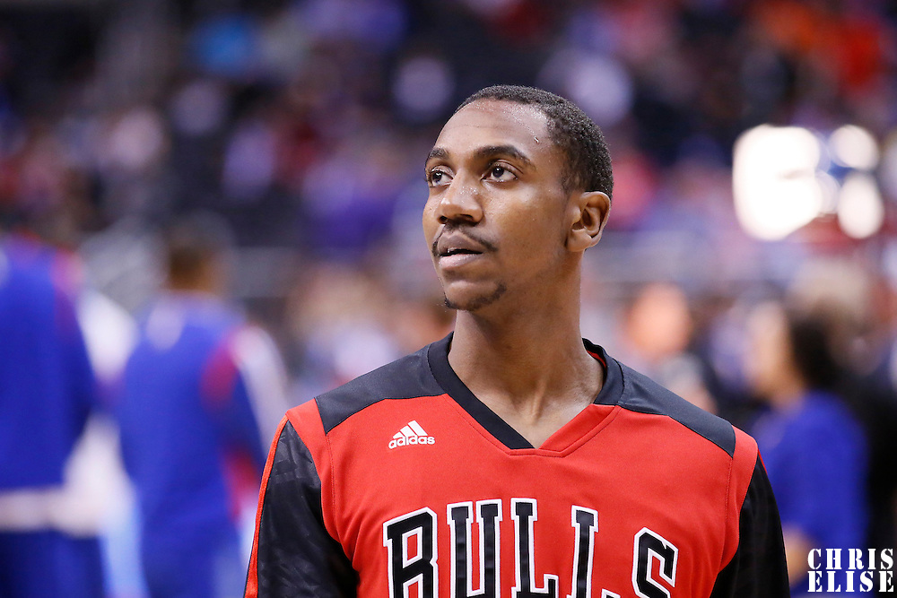 24 November 2013: Chicago Bulls point guard Marquis Teague (25) is seen prior to the Los Angeles Clippers 121-82 victory over the Chicago Bulls at the Staples Center, Los Angeles, California, USA.