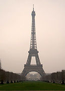 Eiffel Tower viewed from the Chaps de Mars in Paris
