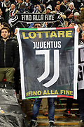 Juventus fans during the Champions League match between Tottenham Hotspur and Juventus FC at Wembley Stadium, London, England on 7 March 2018. Picture by Matthew Redman.