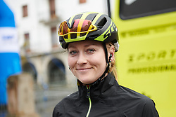 Gracie Elvin (AUS) makes her way to sign on at Emakumeen Bira 2018 - Stage 3, a 114.5 km road race starting and finishing in Aretxabaleta, Spain on May 21, 2018. Photo by Sean Robinson/Velofocus.com