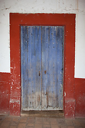"""Door 7"" - This old wooden door was photographed in the small mountain town of San Sebastian, Mexico."