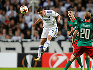 FOOTBALL: Benjamin Verbič (FC København) jumps for the ball during the UEFA Europa League Group F match between FC København and FC Lokomotiv Moskva at Parken Stadium, Copenhagen, Denmark on September 14, 2017. Photo: Claus Birch