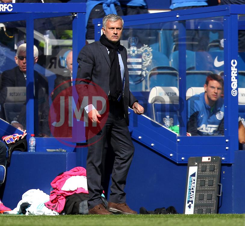 Chelsea Manager, Jose Mourinho - Photo mandatory by-line: Robbie Stephenson/JMP - Mobile: 07966 386802 - 12/04/2015 - SPORT - Football - London - Loftus Road - Queens Park Rangers v Chelsea - Barclays Premier League