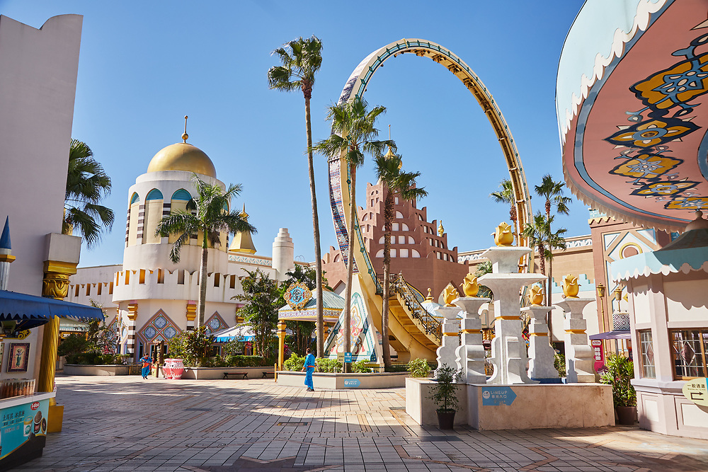 Arabian Kingdom themed area at Leofoo Village amusement park. This is the first place most visitors usually enter when arriving at the park.<br /> <br /> .