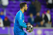 Ajax goalkeeper Kostas Lamprou (26) in action during a Florida Cup match at Orlando City Stadium on Jan. 10, 2019 in Orlando, Florida. <br /> Flamengo won in penalties 4-3.<br /> <br /> ©2019 Scott A. Miller