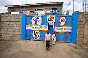 Nairobi, June 2010 -  the Soweto good Samaritan orphans and destitute center. In the Soweto slum.