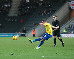 Coventry City's Chris Maguire scoring a goal from a free kick - Photo mandatory by-line: Nigel Pitts-Drake/JMP - Tel: Mobile: 07966 386802 30/11/2013 - SPORT - Football - Milton Keynes - Stadium mk - MK Dons v Coventry City - Sky Bet League One