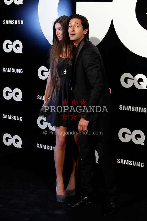 MADRID, SPAIN - Monday, November 19, 2012: Adrien Brody and Lara Lieto attends GQ Men of the Year 2012 Awards at at the Westin Palace Hotel. (Pic by Caro Marin/AlterPhotos/Propaganda)