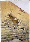 Entrance to the Great Pyramid'. Watercolour. Richard Phene Spiers (1838-1916) English Architect. Kufu Cheops Giza Egypt Archaeology Architecture