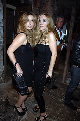 Left to right, actress SARAH BARRAND and MEG MATHEWS at the Stephen Webster launch party of his latest jewellery collection during the London Jewellery Week, at Wilton's Music Hall, Graces Alley, Off Ensign Street, London E1 on 12th June 2008.<br /><br />NON EXCLUSIVE - WORLD RIGHTS