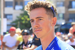 James Knox (GBR) Deceuninck-Quick Step at sign on before the start of Stage 5 of La Vuelta 2019 running 170.7km from L'Eliana to Observatorio Astrofisico de Javalambre, Spain. 28th August 2019.<br /> Picture: Eoin Clarke | Cyclefile<br /> <br /> All photos usage must carry mandatory copyright credit (© Cyclefile | Eoin Clarke)