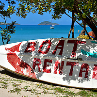 Boat Rental Sign at Magens Bay on the Northside, Saint Thomas <br />