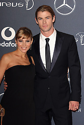 CHRIS HEMSWORTH arrives at the Laureus Sport Awards held at the Queen Elizabeth II Centre, London, Monday February 6, 2012. Photo By i-Images