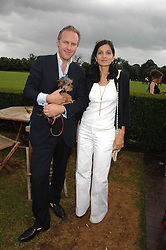 SIMON & YASMIN MILLS and their dog Alfie at a charity polo match organised by Jaeger Le Coultre at Ham Polo Club, Richmond, Surrey on 29th June 2007.<br /><br />NON EXCLUSIVE - WORLD RIGHTS