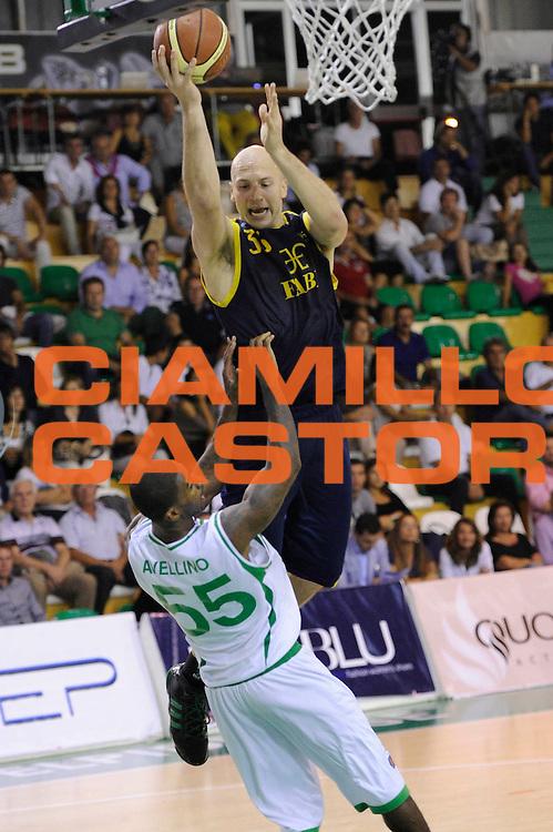 DESCRIZIONE : Porto Sant Elpidio Lega A 2011-2012 Torneo Della Calzatura Sidigas Avellino Fabi Shoes Montegranaro<br /> GIOCATORE : Greg Brunner<br /> CATEGORIA : tiro penetrazione<br /> SQUADRA : Fabi Shoes Montegranaro<br /> EVENTO : Campionato Lega A 2011-2012<br /> GARA : Sidigas Avellino Fabi Shoes Montegranaro<br /> DATA : 25/09/2011<br /> SPORT : Pallacanestro<br /> AUTORE : Agenzia Ciamillo-Castoria/C.De Massis<br /> GALLERIA : Lega Basket A 2011-2012<br /> FOTONOTIZIA : Porto Sant Elpidio Lega A 2011-2012 Torneo Della Calzatura Sidigas Avellino Fabi Shoes Montegranaro<br /> PREDEFINITA :