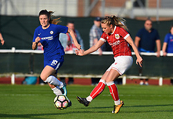 Millie Farrow of Bristol City Women takes a shot at goal - Mandatory by-line: Paul Knight/JMP - 15/05/2018 - FOOTBALL - Stoke Gifford Stadium - Bristol, England - Bristol City Women v Chelsea Ladies - FA Women's Super League 1