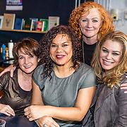 NLD/Amsterdamt/20170111 - Nieuwjaarsborrel Opvliegers 2, Anne-Mieke Ruyten, Anousha Nzume, Hymke de Vries en Antje Monteiro
