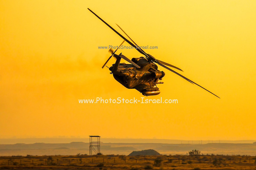 Israeli Air force (IAF) Sikorsky CH-53 helicopter in flight