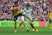 Adam Lallana of England dribbling into the box during the FIFA World Cup Qualifier group stage match between England and Lithuania at Wembley Stadium, London, England on 26 March 2017. Photo by Matthew Redman.