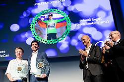 Tanja Zakelj and Primoz Roglic at the Slovenia's Cyclist of the year award ceremony by Slovenian Cycling Federation KZS, on November 26, 2019 in Ljubljana Castle, Ljubljana, Slovenia. Photo by Matic Klansek Velej / Sportida