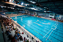 View on hall at water polo match between National men teams of Slovenia and Germany in Qualifications for European Championships in Eindhoven 2012 on June 18, 2011 in Pokriti bazen, Kranj Slovenia. (Photo By Matic Klansek Velej / Sportida.com)