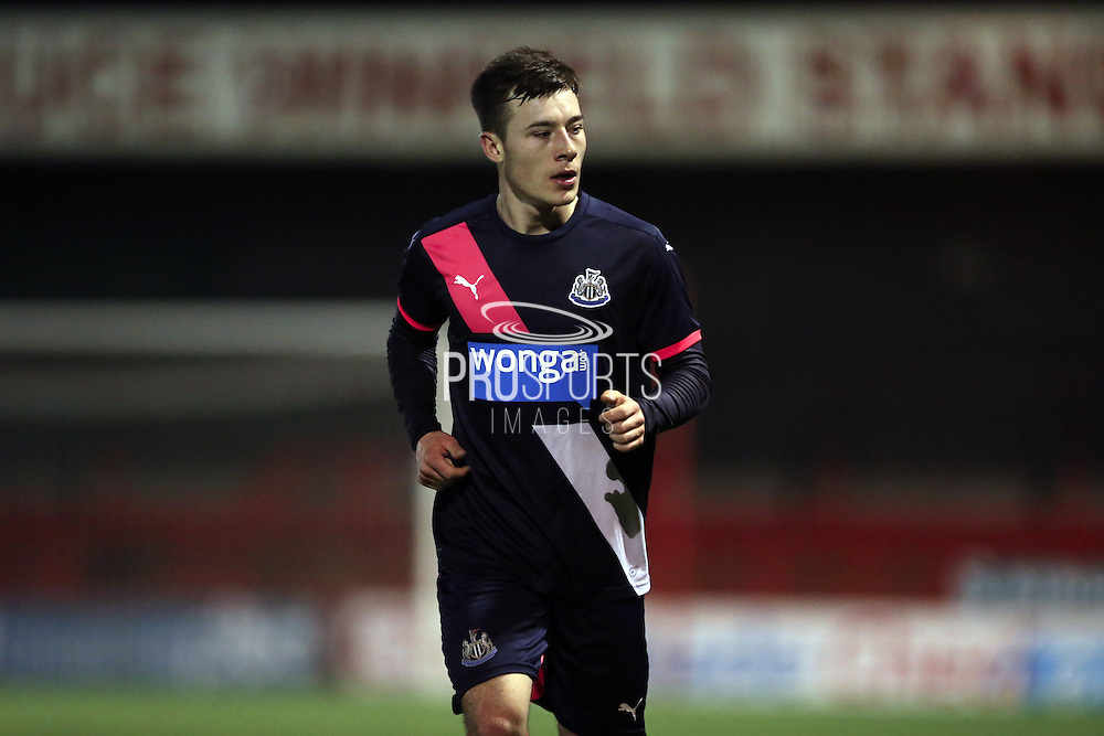 U21 Newcastle United's Callum Roberts during the Barclays U21 Premier League match between U21 Brighton and Hove Albion and U21 Newcastle United at the Checkatrade.com Stadium, Crawley, England on 23 March 2016.
