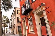Sunset along Broad Street in historic Charleston, SC.
