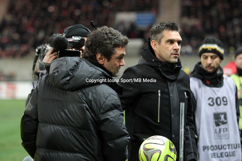 Jocelyn GOURVENNEC / Sylvain RIPOLL  - 24.01.2015 - Guingamp / Lorient - 22eme journee de Ligue1<br />Photo : Vincent Michel / Icon Sport *** Local Caption ***