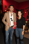 MARK-FRANCIS VANDELLI; SOPHIE GREEN, The LAPADA Art & Antiques Fair - private view, Berkeley Sq. London. 12  September 2016