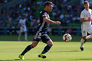 MELBOURNE, VIC - JANUARY 20: Melbourne Victory forward Kosta Barbarouses (9) watches the ball during the Hyundai A-League Round 14 soccer match between Melbourne Victory and Wellington Phoenix at AAMI Park in VIC, Australia on 20th January 2019. Image by (Speed Media/Icon Sportswire)