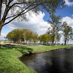 16-04-2016: Wielrennen: IJsseldelta Topcompetitie vrouwen: Zwolle<br />ZWOLLE (NED) wielrennen <br />Wind was in deze editie de grootste tegenstanders van de vrouwen samen met de smalle wegen in de polder
