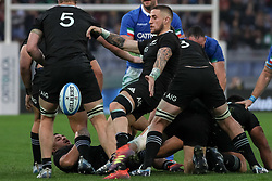 November 24, 2018 - Rome, Rome, Italy - TJ Perenara during the Test Match 2018 between Italy and New Zealand at Stadio Olimpico on November 24, 2018 in Rome, Italy. (Credit Image: © Emmanuele Ciancaglini/NurPhoto via ZUMA Press)