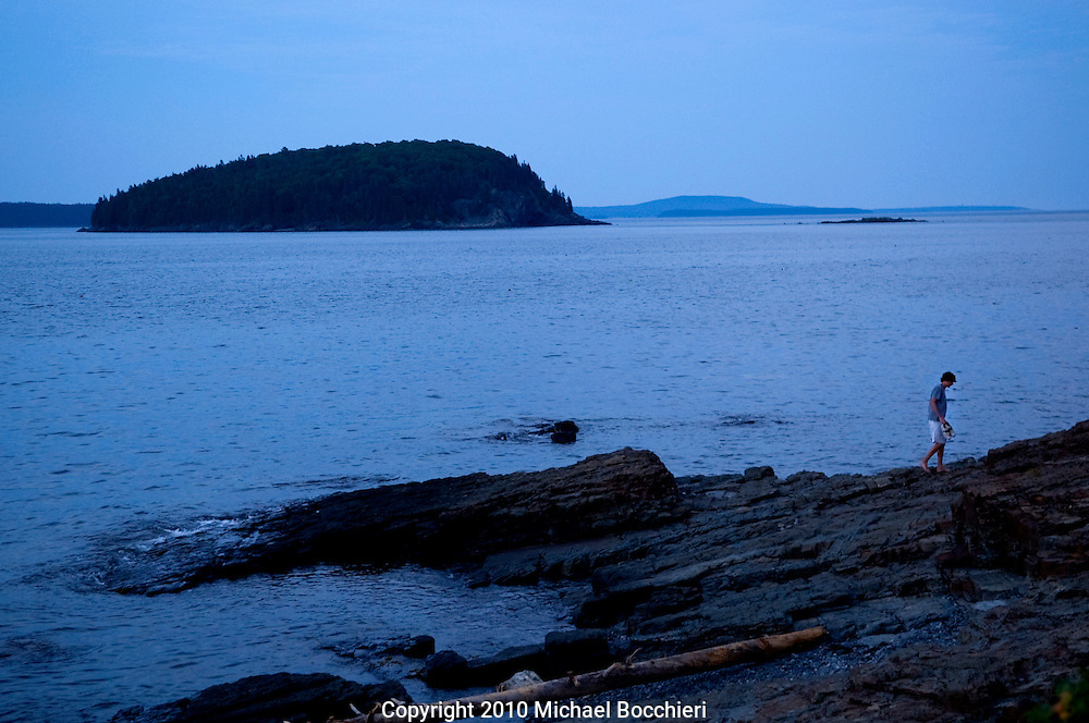 BAR HARBOR, ME - July 22:  A view from the beach of Frenchman Bay on July 22, 2010 in BAR HARBOR, ME.  (Photo by Michael Bocchieri/Bocchieri Archive)