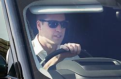 © Licensed to London News Pictures. 17/05/2018. Windsor, UK. Prince William leaves Windsor Castle by car. Photo credit: LNP