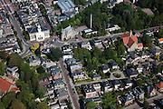 Nederland, Drenthe, Assen, 08-09-2009; centrum van de stad, links de Jozefkerk (Nederlands Hervormd), voorbeeld van Waterstaatskerk (neoclassicistisch stijl). Rechts  Zuiderkerk (huisvestte de Synode van Assen, kwestie Geelkerken).City centre.luchtfoto (toeslag); aerial photo (additional fee required); .foto Siebe Swart / photo Siebe Swart