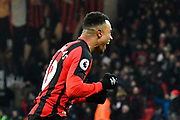 Goal - Junior Stanislas (19) of AFC Bournemouth celebrates scoring a goal to make the score 2-1 during the Premier League match between Bournemouth and West Bromwich Albion at the Vitality Stadium, Bournemouth, England on 17 March 2018. Picture by Graham Hunt.