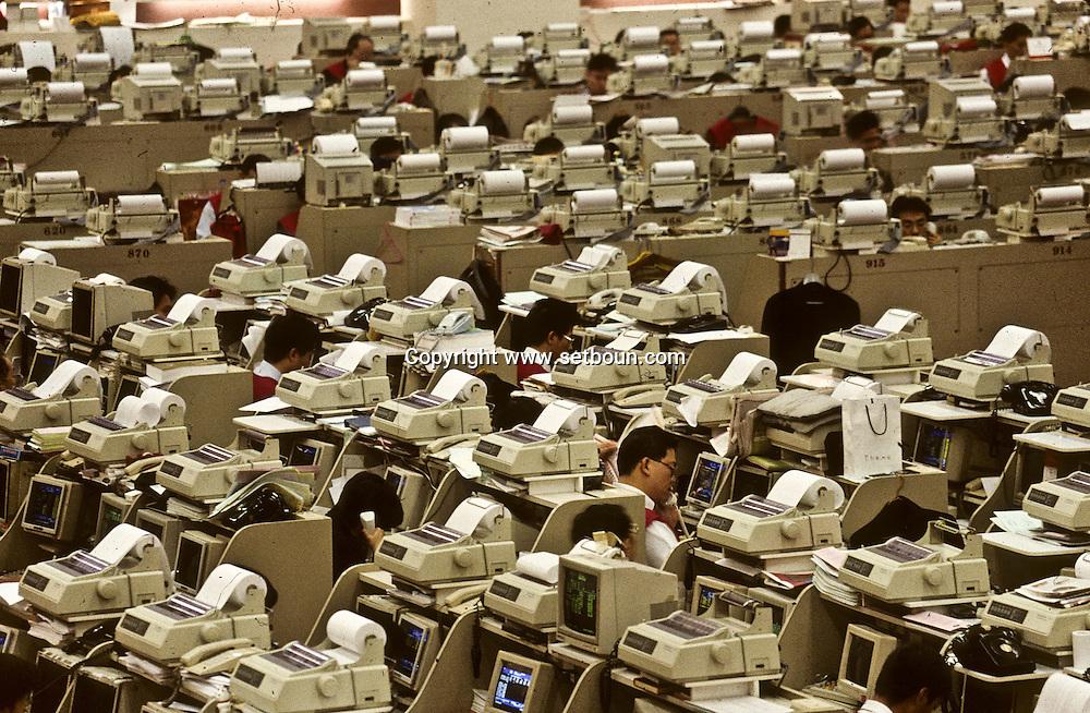 stock exchange/ Hong Kong   /// bourse/ stock exchange. Hong Kong