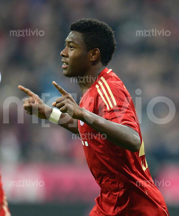 FUSSBALL   1. BUNDESLIGA  SAISON 2012/2013   11. Spieltag FC Bayern Muenchen - Eintracht Frankfurt    10.11.2012 Jubel nach dem Elfmeter Tor zum 2:0 David Alaba (FC Bayern Muenchen)