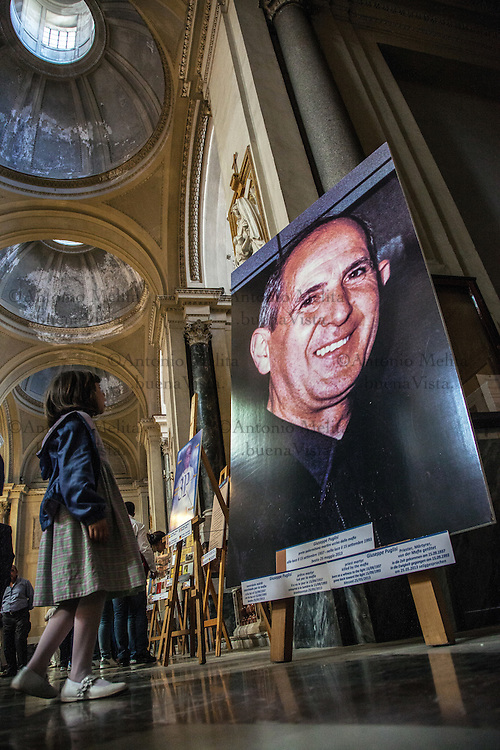 The remains of Father Pino Puglisi, after the beatification ceremony, are located in the Cathedral of Palermo. Holy Mass in memory of the first martyr killed by the Mafia.