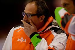 13-01-2013 SCHAATSEN: EK ALLROUND: HEERENVEEN<br /> NED, Speedskating EC Allround Thialf Heerenveen / 1500 women - Coach Jac Orie<br /> ©2013-FotoHoogendoorn.nl