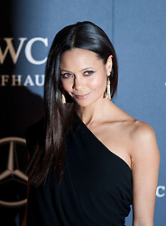 © Licensed to London News Pictures. 06/02/2012. London, UK. Actress Thandie Newton arriving on the red carpet for the Laureus World Sports Awards 2012. Dozens of sports and Hollywood celebrities arrived in the English capital to attend the event held at the Queen Elizabeth II Conference Centre in the same year that London will host the Olympic Games. Photo credit : Ben Cawthra/LNP