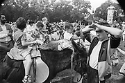 Donkey rides at the Moss Side Carnival, Alexandra Park, Manchester, 1989.
