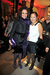 Left to right, Rena Sindi and LILLIAN VON STAUFFENBERG at a party to launch the book 'Italian Touch' - A Celebration of Italian Lifestyle held at TOD's, 2-5 Old Bond Street, London on 4th November 2009.