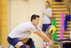 Alen Sket during training camp of Slovenian Volleyball Men Team 1 month before FIVB Volleyball World League tournament in Ljubljana, on May 5, 2016 in Arena Vitranc, Kranjska Gora, Slovenia. Photo by Vid Ponikvar / Sportida
