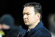 Plymouth Argyle manager Derek Adams during the Sky Bet League 2 match between Yeovil Town and Plymouth Argyle at Huish Park, Yeovil, England on 23 February 2016. Photo by Graham Hunt.