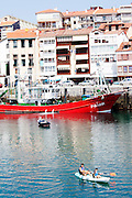 Fishing boats in the port in Lekeitio.