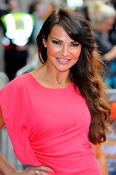 Bula Quo UK film premiere.  <br /> Lizzie Cundy attends premiere of Status Quo action film featuring 12 of the rock band's classic tracks. Directed by former stunt co-ordinator Stuart St Paul, starring Jon Lovitz, Craig Fairbrass, Laura Aikman and the band members themselves. Released July 5. Odeon West End, London, United Kingdom.<br /> Monday, 1st July 2013<br /> Picture by Chris Joseph / i-Images