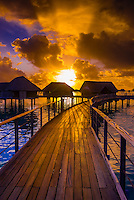 Overwater bungalows, Four Seasons Resort Bora Bora, French Polynesia.