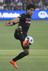 April 29, 2018 - Los Angeles, California, U.S - 29 April 2018, Los Angeles, Ca.,The Los Angeles Football Club (LAFC) beat the Seattle Sounders in the inaugural game at the new Banc of California Stadium. Pictured is LAFC's Omar Gaber. (Credit Image: © Prensa Internacional via ZUMA Wire)
